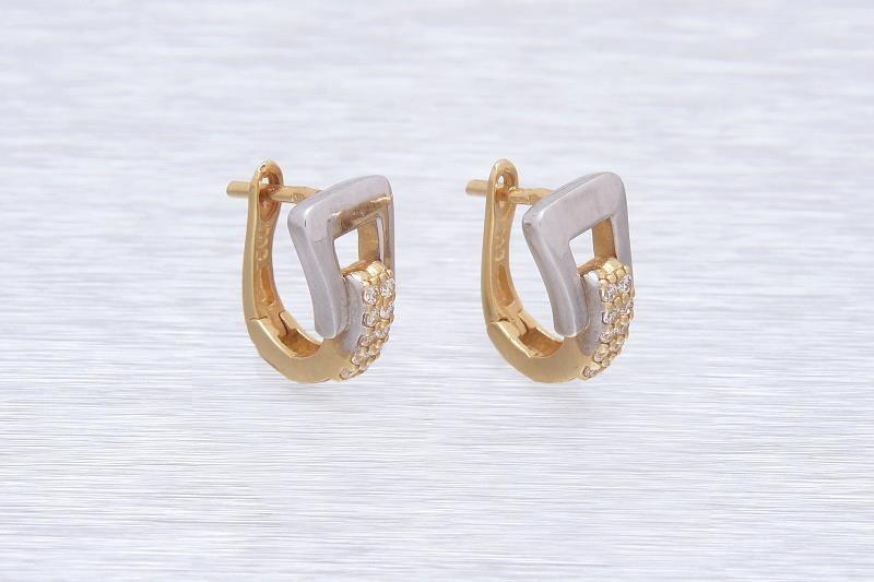 Zlaté dámske náušnice NEREZA 1NK00160 - FEMWEB.SK 8692c8d2994