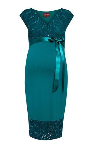 bde424c19742 Tiffany Rose Šaty pre tehotné spoločenské Twilight Emerald
