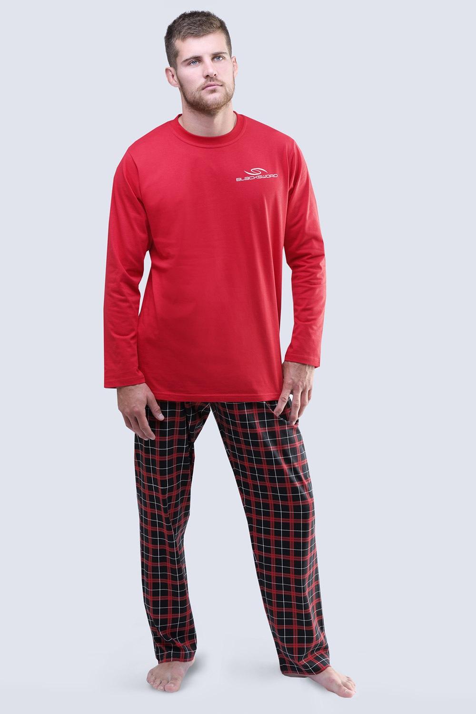59bb7dd0b3d7 Pánske pyžamo Blacksword dlhé S červená - FEMWEB.SK