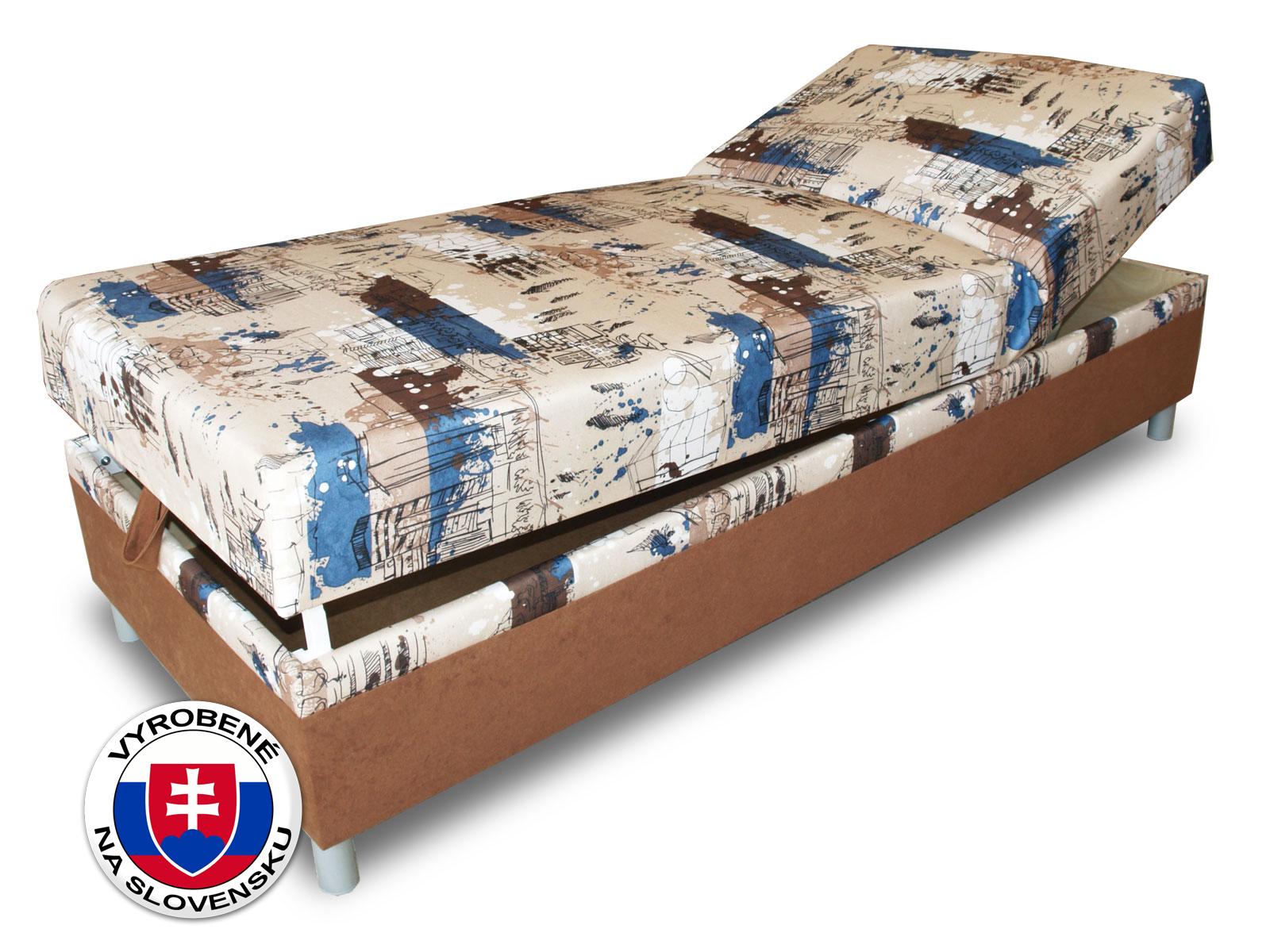 f9e2a8392216 Jednolôžková posteľ (váľanda) 80 cm Benab Rafael Steel (s roštom a matracom)
