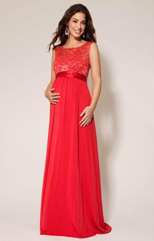 e5af030055d2 Tiffany Rose Valencia spoločenské tehotenské šaty červené