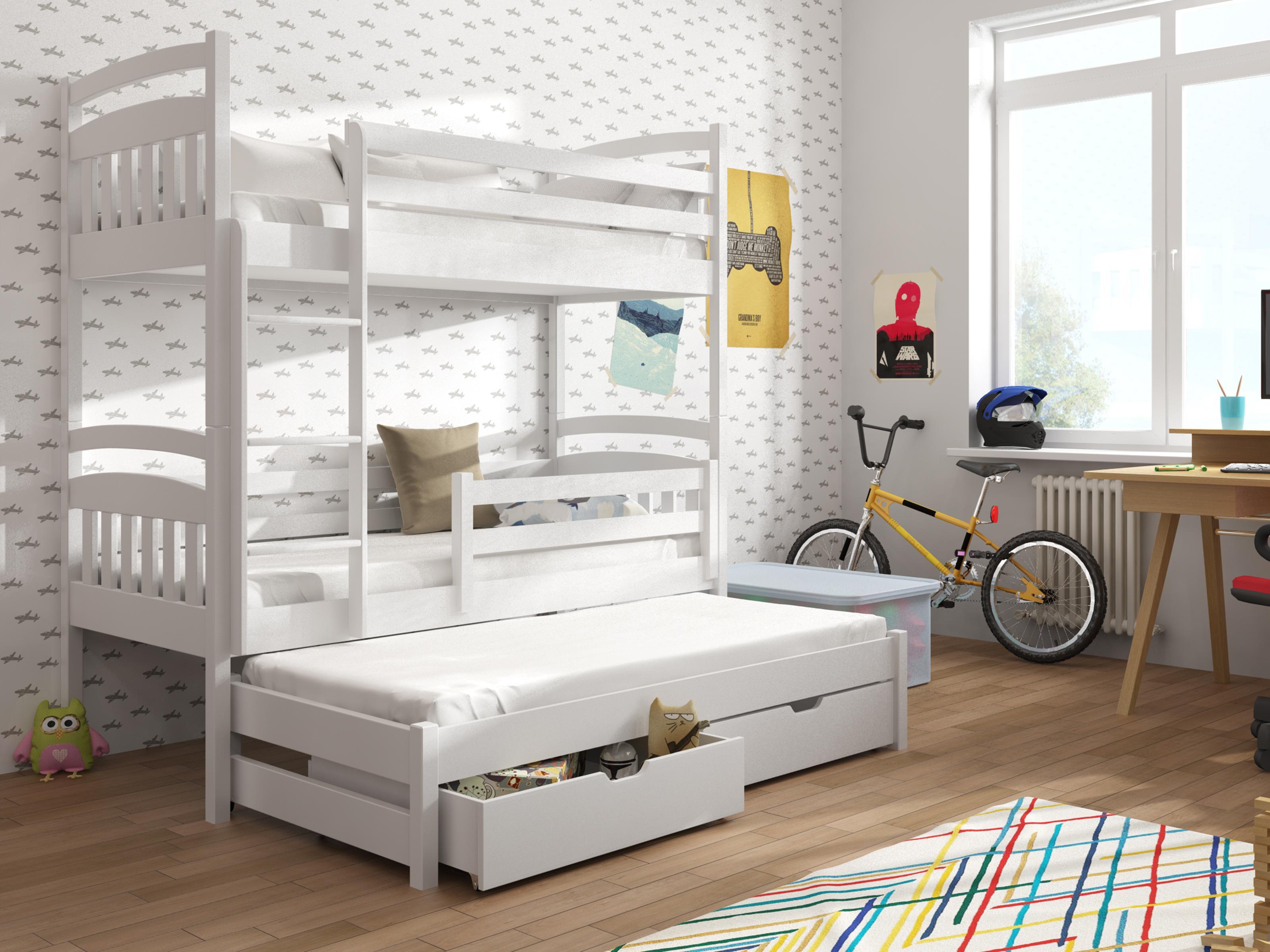 14a0691d9d50 Detská poschodová posteľ 90 cm Anie (biela)